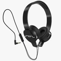 headphones sol republic black 3d 3ds