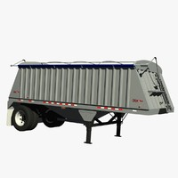 3d dakota grain pup trailer model