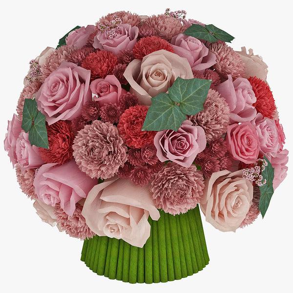 flower bouquet 3d 3ds