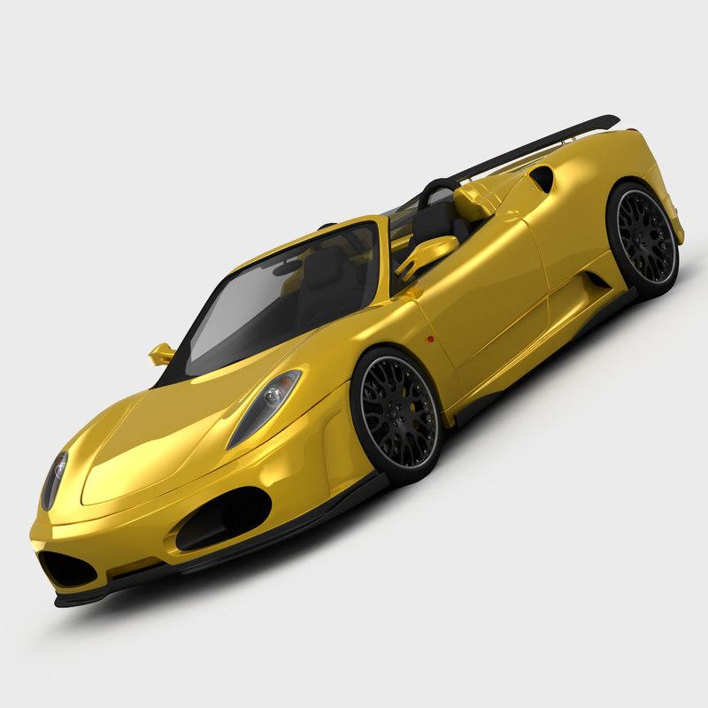 Cenário 3d Ferrari F430 Modelo 3d: Ferrari F430 Cabriolet Hamann 3d 3ds