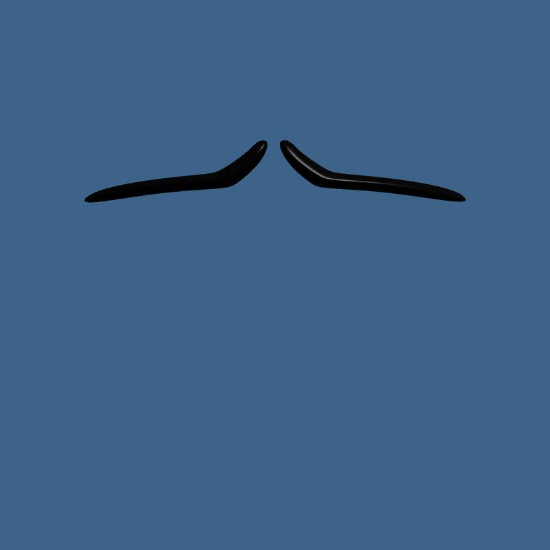 3d model of split pencil style mustache