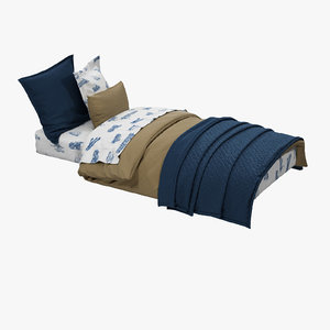 3d high-quality s bed model