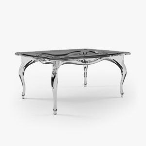 3ds max acrylic table classic style