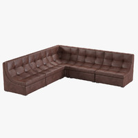 club corner sofa 3d 3ds