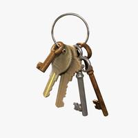 3d model keys ring