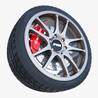 work crag st5 wheel tire 3d 3ds