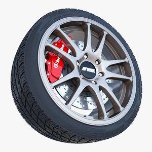 work crag st5 wheel tire 3d 3ds