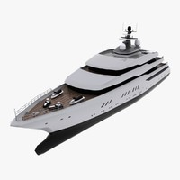 3d yacht cruise model
