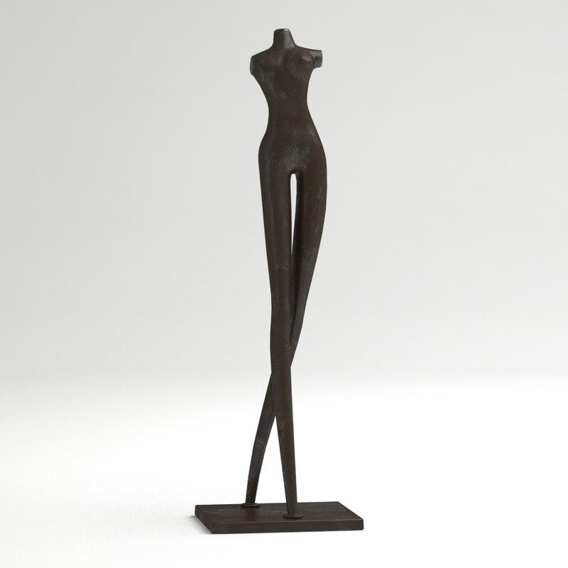 3d model of woman statue