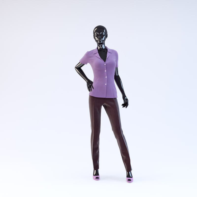 3d showroom mannequin 08 model