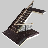 Classic Marble Stairs