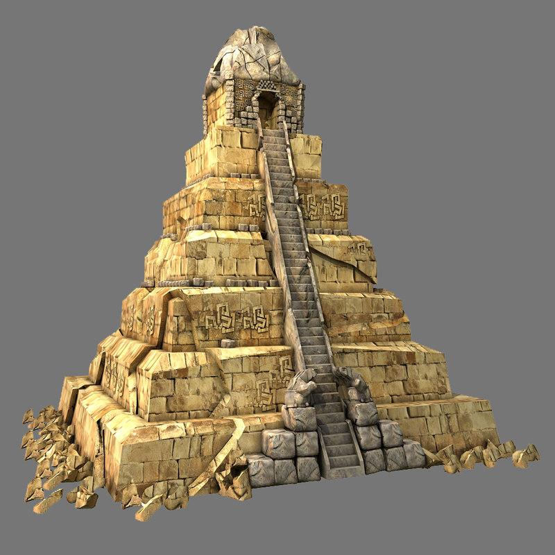 aztec pyramid 3d
