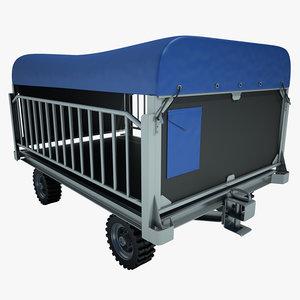 3d baggage cart airpt