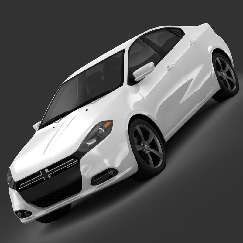 3d dodge dart limited sedan model