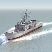 3d model oliver hazard frigate navy ship