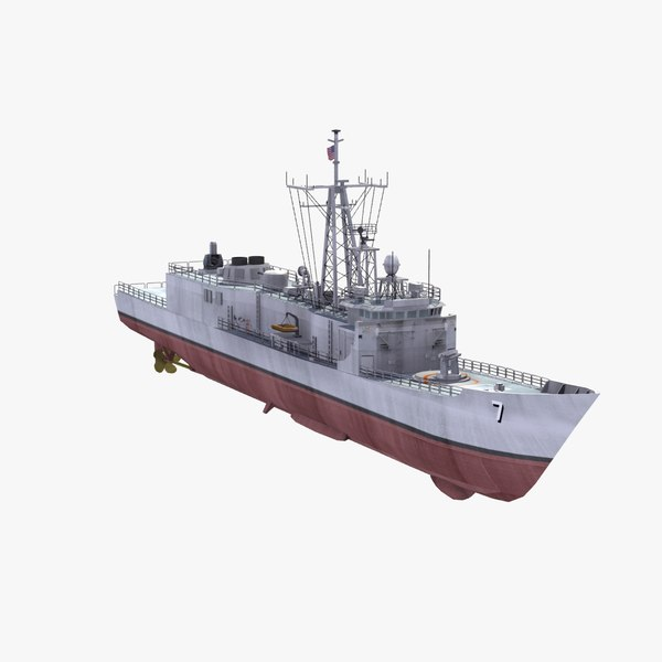 3d model uss perry battle