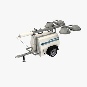 compact mobile construction light tower max