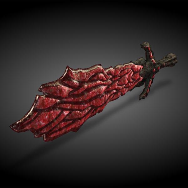 sword rock 3d model