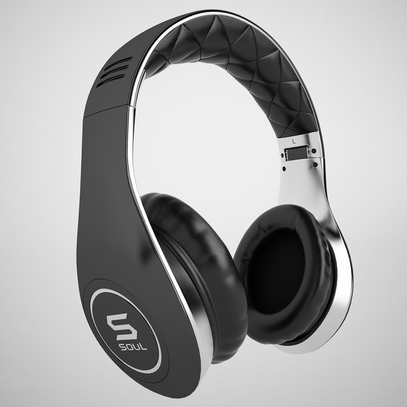 soul headphones ludacris 3d model