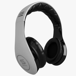 soul headphones ludacris 3d model