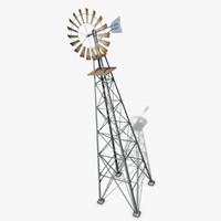 windmill wood obj