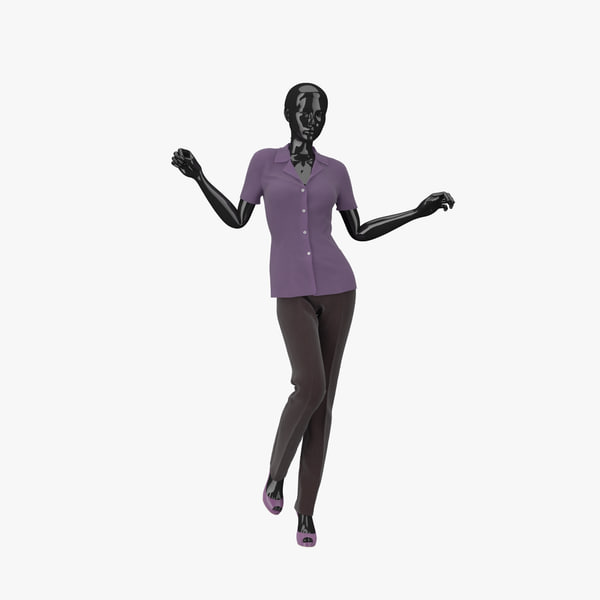3d showroom mannequin 010 model