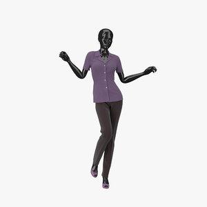 3d showroom mannequin 010 model