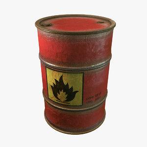 flammable barrel max