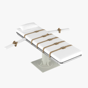 3d lethal injection bed model