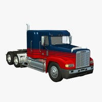 freightliner fld120 midroof 3d model