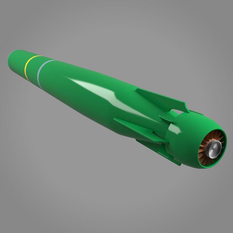mk48 torpedo 3d model
