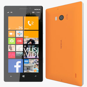 3d model realistic nokia lumia 930