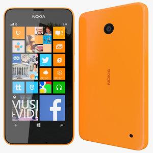 realistic nokia lumia 630 3d 3ds