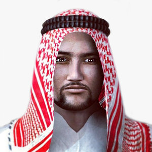 3d 3ds realistic arabic male character