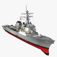 3d uss john paul jones model