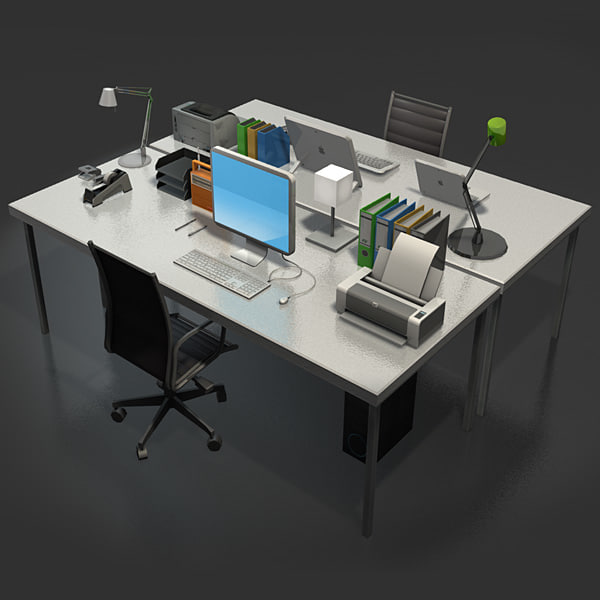 desk accessories 3d dxf