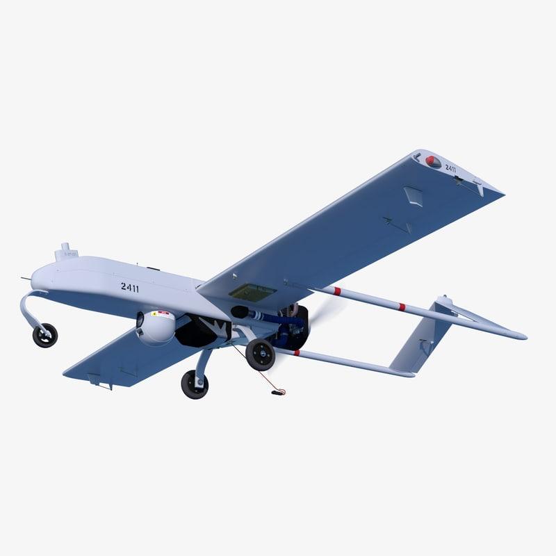 rq-7 shadow 200 unmanned 3d c4d