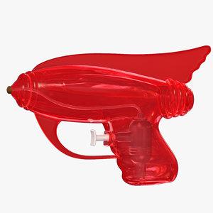 space water pistol 3d obj
