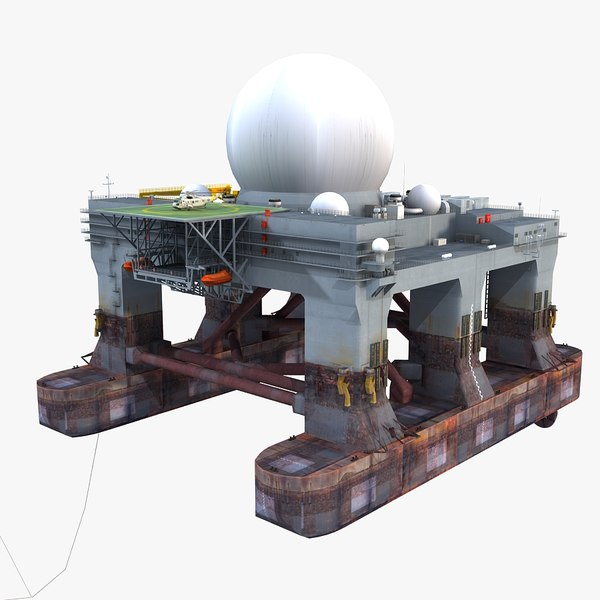 3d sbx- sea-based x-band radar model