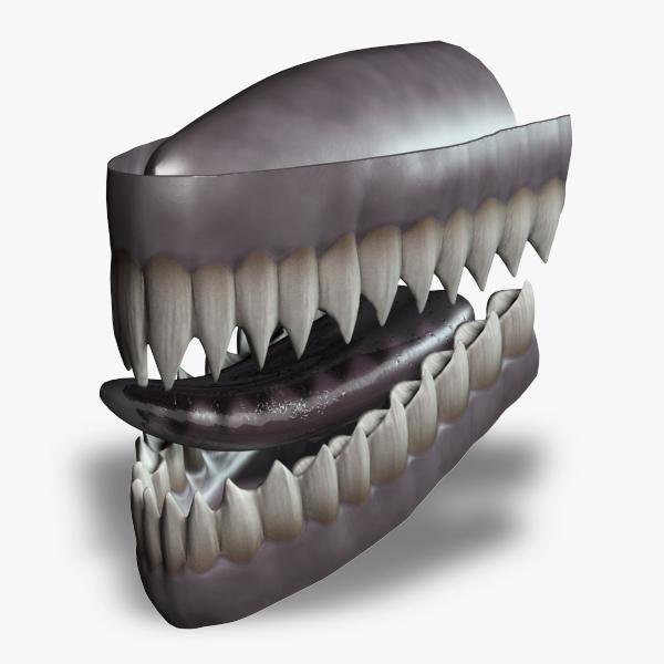 rigged teeth 3d model