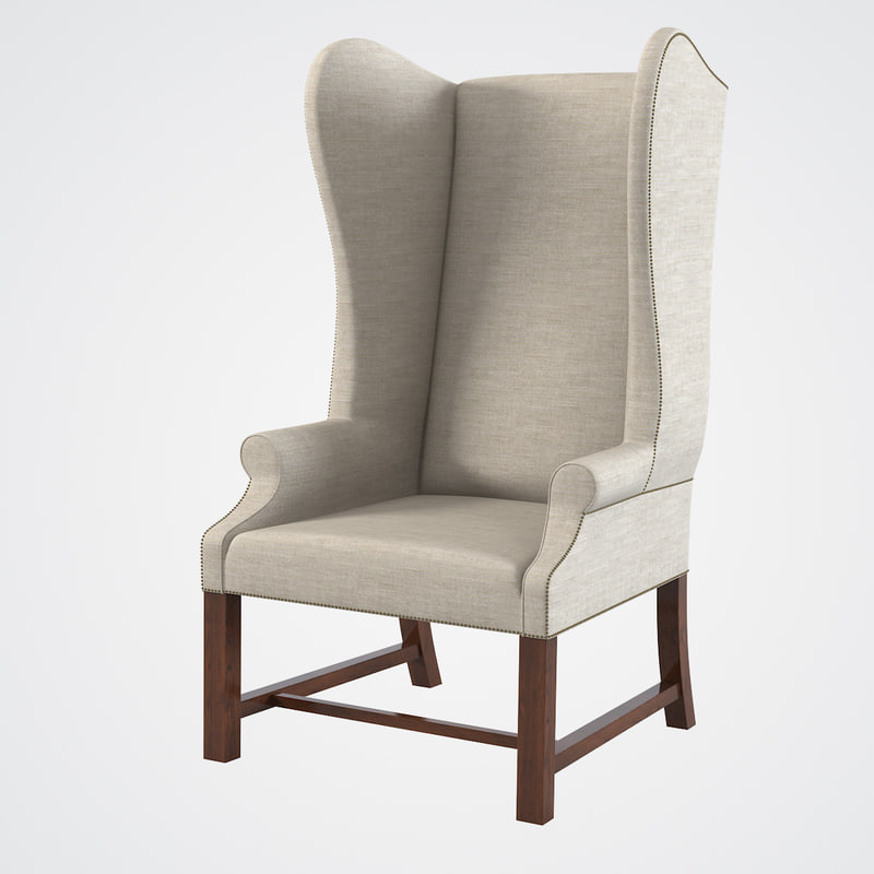 Upholstered wing chairs - French Upholstered Wing Chair Max