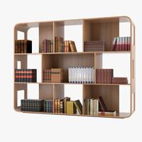 3d bookshelf books