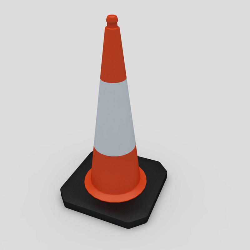 3dsmax road cone