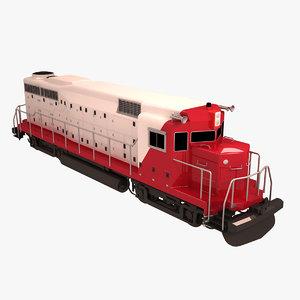 3d model of passenger train