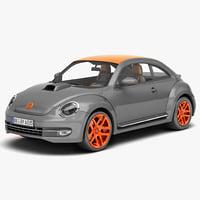 volkswagen beetle 2012 tunned obj