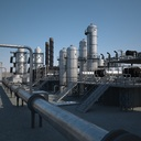 petroleum refinery 3D models