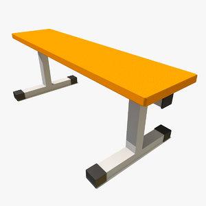 3d flat bench model