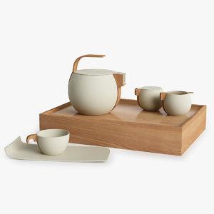 3d model teaware tea