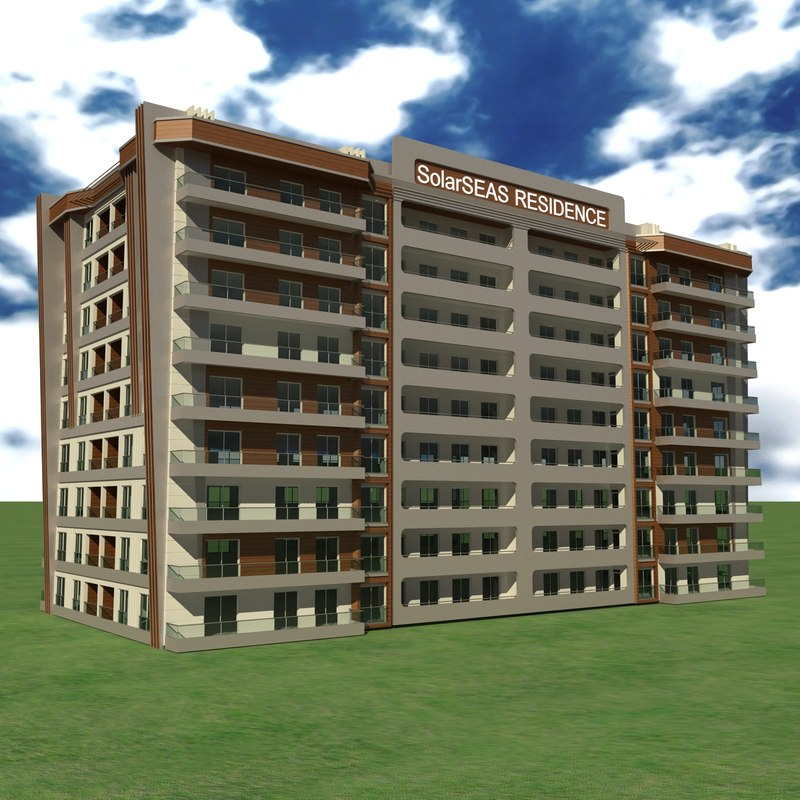 obj modern apartment building 5