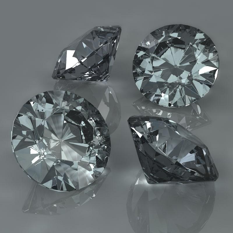 3d c4d diamonds refractions caustics